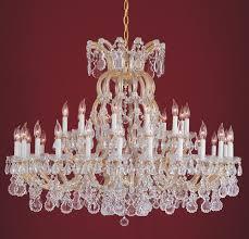 37 light gold crystal chandelier dd in clear swarovski strass crystal