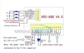krc 86b v4 0 bluetooth stereo audio receiver module wireless speaker  at Krc 86b Bluetooth Wiring Diagram
