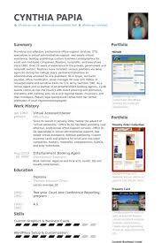 Virtual Assistant Resume Samples Visualcv Database Alid Info