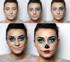 skelita cavaleras makeup steps monster high skelita calaveras makeup