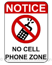 No Cell Phones Sign Printable Free Printable No Cell Phone Zone Temporary Sign