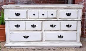 distressed white furniture. Dresser In Off White With Tobacco Glaze. Distressing Reveals Primer And Original Wood Tones Distressed Furniture S