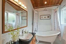 clawfoot tub shower head overhead shower head bathroom transitional with tub freestanding bathtub granite counter