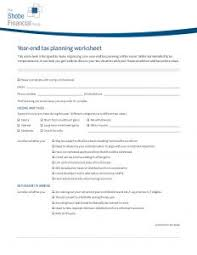 Your Year End Tax Planning Checklist Shobe Financial Group