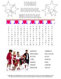 Small Picture High School Musical Word Search Printable Free Printables for