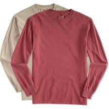Comfort Colors T Shirts Color Chart Custom Comfort Colors 100 Cotton Long Sleeve Shirt Design