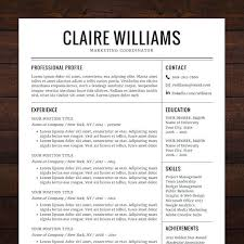 Modern Resume Template Word Free Download – Poquet