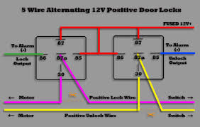 5 wire door locks 5 wire alternating positive door locks