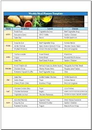 Excel Weekly Meal Planner Monthly Meal Planner Template Excel Meal Plan Template Excel Weekly