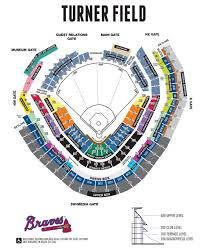 Suntrust Park Seating Chart With Rows Atlanta Braves Stadium Map