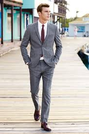 Light Grey Suit With Burgundy Tie Mens Grey Plaid Suit White Dress Shirt Burgundy Leather