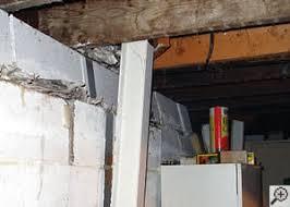 straightening tilting foundation walls