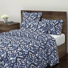 ikat bedding duvet cover indigo blue diamonds by crystal modern cotton duvet cover bedding printed with