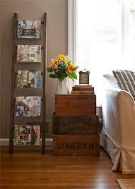 Vintage Ladder Magazine Shelves Rack