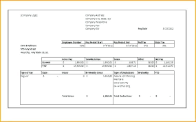 Free Payroll Stub Template Simple Free Paycheck Stub Template Pay Excel Grnwavco