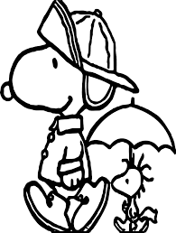 Small Picture April Shower Snoopy Coloring Page Wecoloringpage