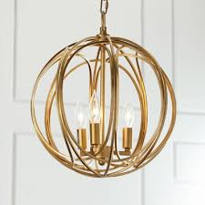 industrial 13 8 w chandelier with globe metal cage frame in gold 3 light