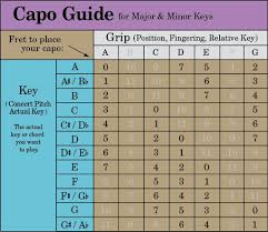 Guitar Capo Chart Partial Capo Chord Chart Www Bedowntowndaytona Com