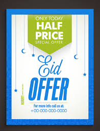 Eid Special Offer Sale Flyer Vector Set 08 Free Download