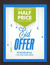Special Offer Flyer Eid Special Offer Sale Flyer Vector Set 08 Free Download