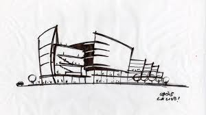 simple architectural sketches. Delighful Architectural Architecture Sketches  Entertainmentu0027s LALive Los Angeles California To Simple Architectural Sketches P