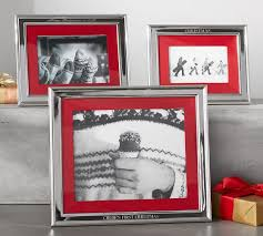 Red Photo Frames Personalized Silver Plated Red Grosgrain Ribbon Mat Frame Pottery Barn