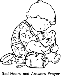 Small Picture God Hears and Answers Prayer Coloring Page