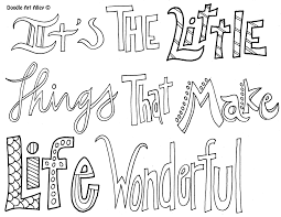 Small Picture Its the little things that make life wonderful Coloring Pages