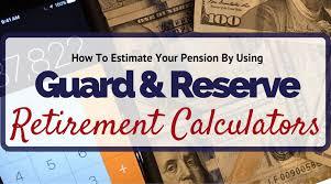 Air National Guard Retirement Point Value Chart Using Reserve Guard Retirement Calculators To Estimate