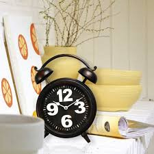 vintage inspired alarm clock with oversize numbers