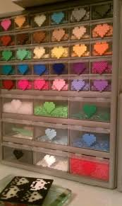 17 best images about perler bead ideas perler bead perler bead storage i didn t think of the melted version on the outside such a great idea