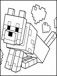 Kleurplaat Minecraft