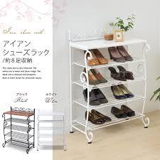 white shoe cabinet furniture. Iron Shoe Rack (Princess Series / Wrought Steel European Antique Storage Furniture Door Shoes Box シューズボックス White Cabinet
