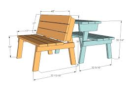 Ana White  Build A Picnic Table That Converts To Benches  Free Plans For Building A Bench