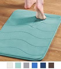 premium memory foam 17x24 inch absorbent soft microfibers of bathroom rug machine washable bath mats aqua green wantitall