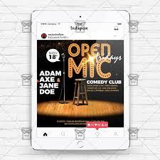 Now Open Flyer Template Open Mic Fridays Instagram Flyer Template