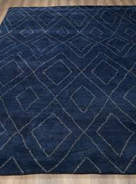 rugsville moroccan beni ourain double diamond navy wool rug 8 x 10