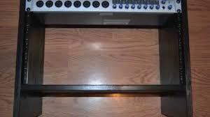 diy 6u economy rack build a 6 unit rack for using a ikea nightstand you