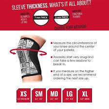 Rocktape Knee Sleeve Size Chart Rocktape Assassins Knee Sleeves 2 Sleeves