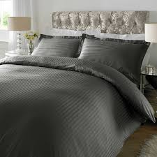 xquisite home sateen stripe 300tc duvet cover set in steel grey next day delivery xquisite home sateen stripe 300tc duvet cover set in steel grey from