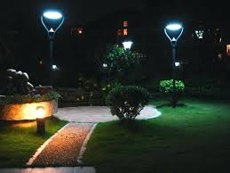 solar powered lawn lights bright outdoor led with motion sensor detector by solario yard home depot
