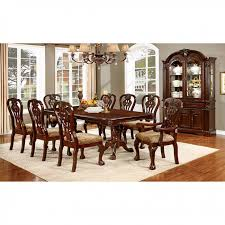traditional wood dining tables. Contemporary Tables Elana Traditional Brown Cherry Finish Dining Table Set On Wood Tables