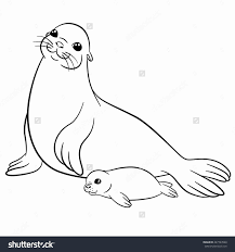 Leopard Seal Coloring Pages Property Sea Lion Lovely With Regard To