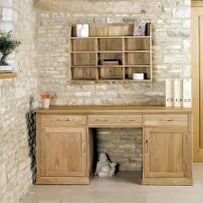 image baumhaus mobel. Baumhaus Mobel Oak Large Hidden Office Twin Pedestal Desk Image