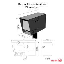 mailbox flag dimensions. Plain Dimensions Dexter Custom Modern Mailbox Bold MFG In Flag Dimensions