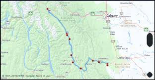 Alberta Distance Chart What Is The Drive Distance From Golden British Columbia