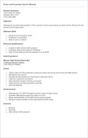 Entry Level Customer Service Resume Inspiration Job Objective For Customer Service Resume Universitypress
