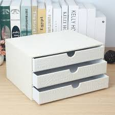 office 3 drawer wooden leather desk a4 file cabinet drawer box table organizer doent holder rack tray crocodile white 217e in desk set from office