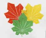 Вязание крючком листья клена