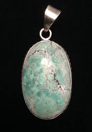 turquoise oval pendant sterling silver large large